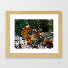 Golden Dragons Nest Framed Art Print