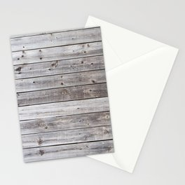 Gray Wood Stationery Cards