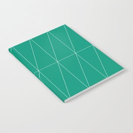 Emerald Triangles by Friztin Notebook