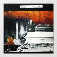 Total Post Mortum Immolation (funeral metal 3) Canvas Print