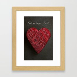 Beetroot to your Heart. Framed Art Print
