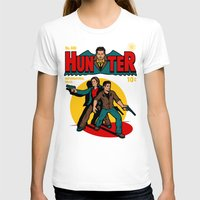 comic T-shirts featuring Hunter Comic by harebrained