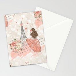 Oh La La Paris Girl Stationery Cards
