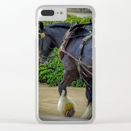 Horse. Clear iPhone Case
