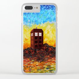 Time and Space Traveller Box in Twilight Zone Clear iPhone Case
