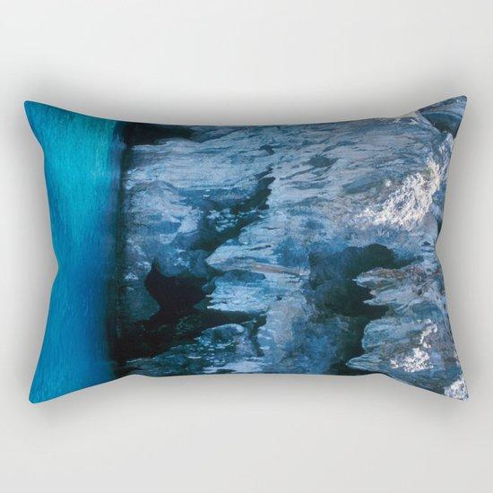 NATURE'S WONDER #3 - BLUE GROTTO #art #society6 Rectangular Pillow