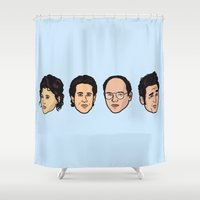 seinfeld Shower Curtains featuring Seinfeld by Michael Walchalk