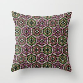 Boho pink mandalas Throw Pillow