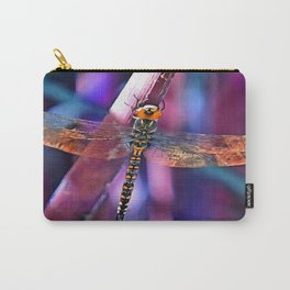 Dragonfly In Orange and Blue Carry-All Pouch