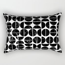 Half Moon Pattern | 70s Style | Fun | Happy Art Rectangular Pillow