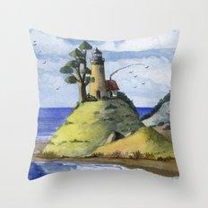 Peaceful Lighthouse IV Throw Pillow