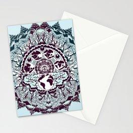 evolution of earth mandala Stationery Cards