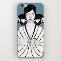 butterfly iPhone & iPod Skins featuring Mila by Sofia Bonati
