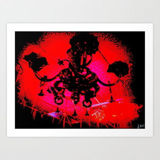 Hell's Chandelier Store Art Print