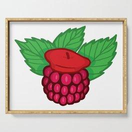 Raspberry Beret Serving Tray