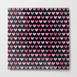 Colorful hearts VI Metal Print