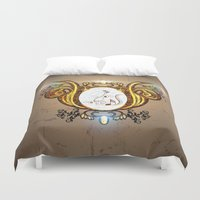 music notes Duvet Covers featuring Key notes  by nicky2342