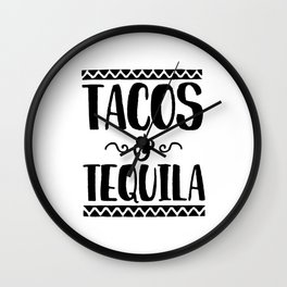 Tacos and Tequila Wall Clock
