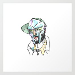 The Rapper-a-day Project | Day 9: MF DOOM Art Print
