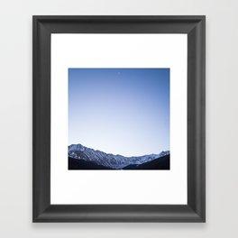 Daylight Moon Ridge Framed Art Print