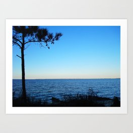 Sunset at Elizabeth Gardens, NC Art Print