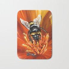 Bee on flower 1 Bath Mat