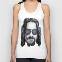 lebowski Tank Tops featuring The Dude Lebowski by Black Neon