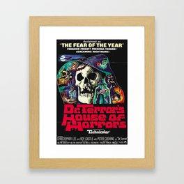 House of Horrors, doctor Terrors, vintage horror movie poster Framed Art Print
