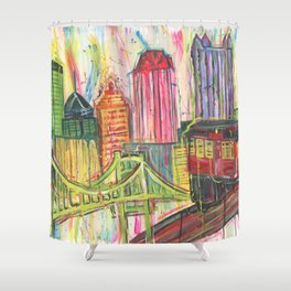 Pittsburgh Proud Shower Curtain