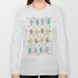 Lovely Colorful Floral Pattern Long Sleeve T-shirt