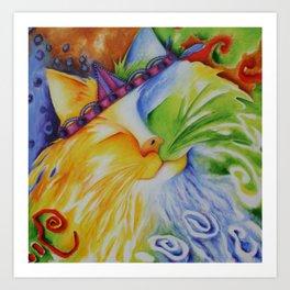 Cat Abstract Original Art Art Print
