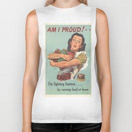 Vintage poster - Am I Proud? Biker Tank