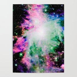 Cosmically Colorful Orion Nebula Poster