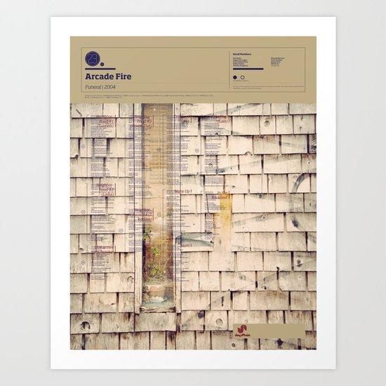 The Visual Mixtape 2010 | Funeral | 23 / 25 Art Print