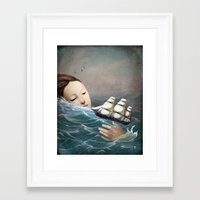 voyage Framed Art Prints featuring Voyage by Christian Schloe