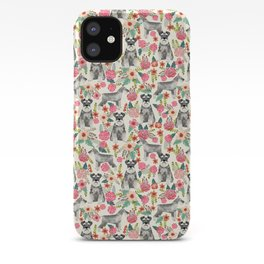 Schnauzer florals dog must have gifts for schnauzers pure breed iPhone Case