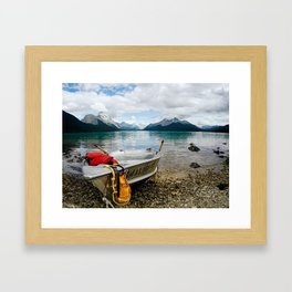Maligne Lake Framed Art Print