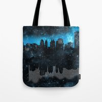 paper towns Tote Bags featuring Cityscape Galaxy Paper Towns John Green Inspired  by denise