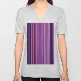 Pink Purple Stripes Unisex V-Neck