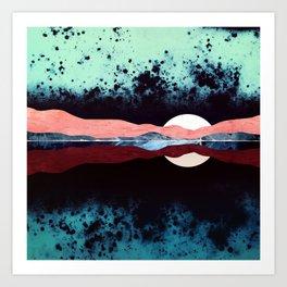 Night Sky Reflection Art Print