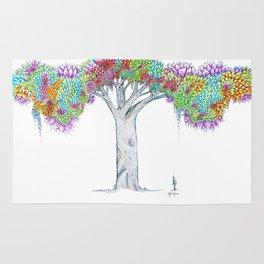 Rainbow Tree Huia Art Rug