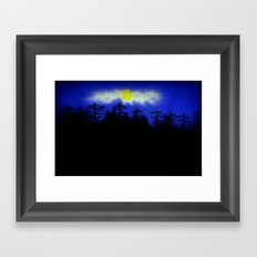 Spooky Forest Engulfs The Light Framed Art Print