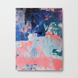 Mixtapes and Bubblegum: a colorful abstract piece in pinks and blues by Alyssa Hamilton Art Metal Print