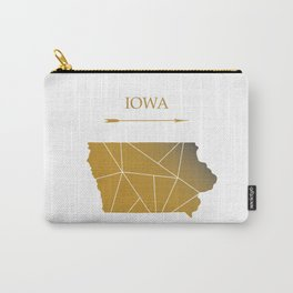 Iowa In Gold Carry-All Pouch