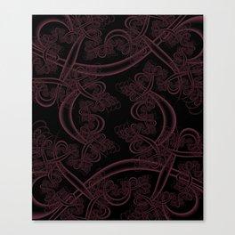 Tawny Port on Black Fractal Canvas Print