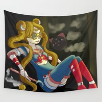 steam punk Wall Tapestries featuring Sailor steam punk by K-Boomsky