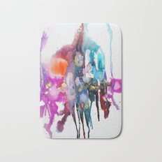 alive and walking (abstract) Bath Mat