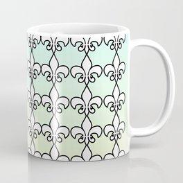 Fleur de lis ....aqua ,yellow Coffee Mug