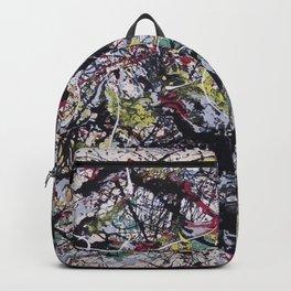 A Jackson Pollak style art digitally vectorised Backpack