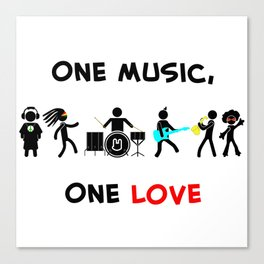 One Music, One Love Canvas Print